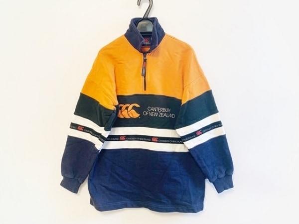 カンタベリーオブニュージーランド トレーナー サイズS メンズ オレンジ×黒×マルチ