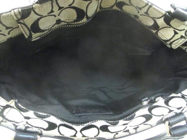 COACH(コーチ) ハンドバッグ シグネチャーキャリーオール 8K07 ベージュ×黒