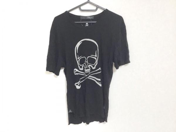 Roen(ロエン) 半袖Tシャツ サイズ46 XL メンズ 黒×シルバー スカル/ラメ