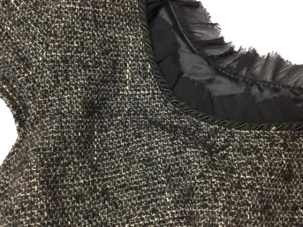 ジルスチュアート ワンピース サイズ0 XS レディース美品  黒×ベージュ フリル/ラメ