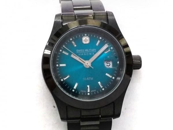 SWISS MILITARY(スイスミリタリー) 腕時計美品  HANOWA 6-7023 レディース ブルー
