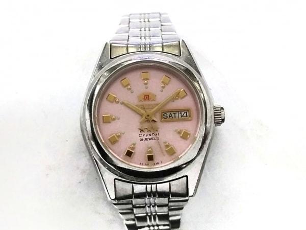 ORIENT(オリエント) 腕時計 スリースター NQ1X-Q1 レディース ピンク