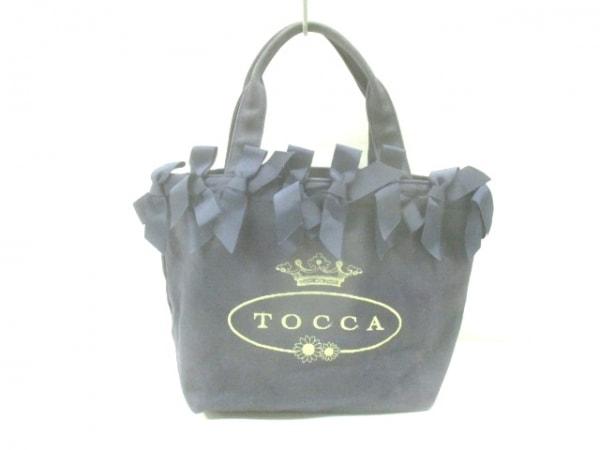 TOCCA(トッカ) トートバッグ ネイビー リボン コットン