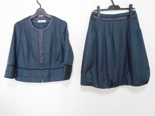 ユマコシノ スカートスーツ サイズ「40」 レディース ネイビー×ダークネイビー
