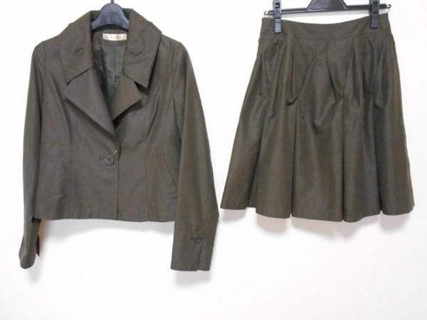 YUMAKOSHINO(ユマコシノ) スカートスーツ レディース カーキ