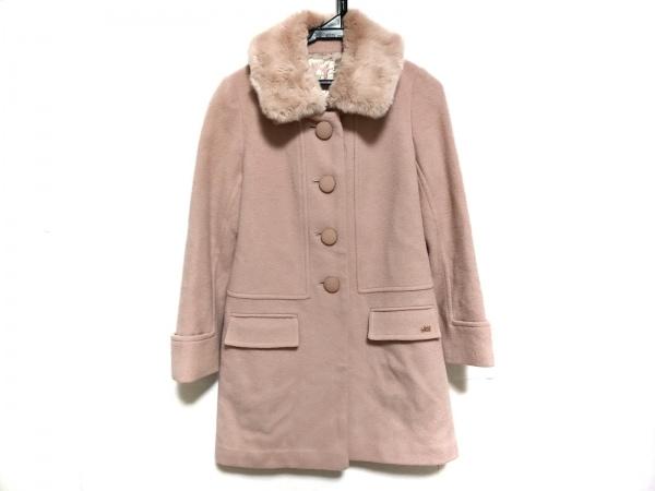 ウィルセレクション コート サイズ0 XS レディース ピンク 冬物/ファー取外し可