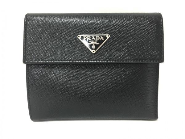 PRADA(プラダ) 2つ折り財布 - 黒 レザー