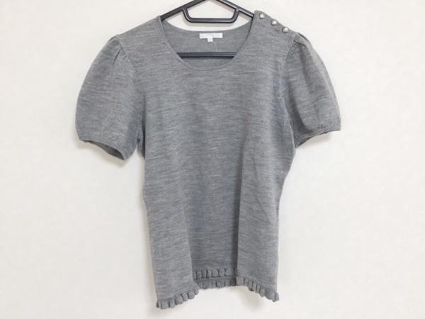 TO BE CHIC(トゥービーシック) 半袖セーター サイズ2 M レディース グレー