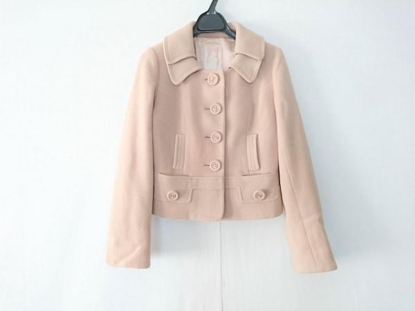 ウィルセレクション コート サイズ0 XS レディース ピンク 冬物/ショート丈/リボン