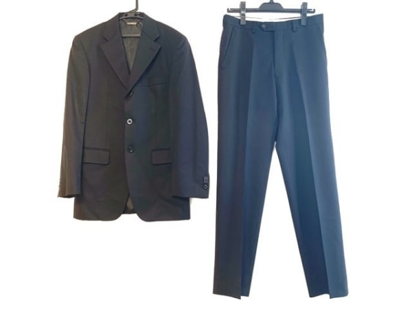 FICCE(フィッチェ) シングルスーツ サイズ48 XL メンズ ダークネイビー ネーム刺繍