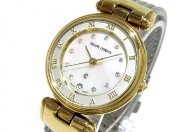 フィリップシャリオール 腕時計 - レディース シェル文字盤/ジルコニア