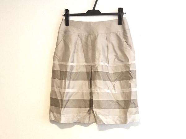 23区(ニジュウサンク) スカート サイズ38 M レディース美品  ライトグレー×グレー