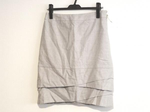 23区(ニジュウサンク) スカート サイズ40 M レディース ライトグレー