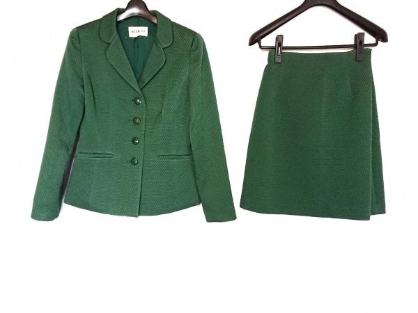 MELROSE(メルローズ) スカートスーツ サイズ3 L レディース美品  グリーン