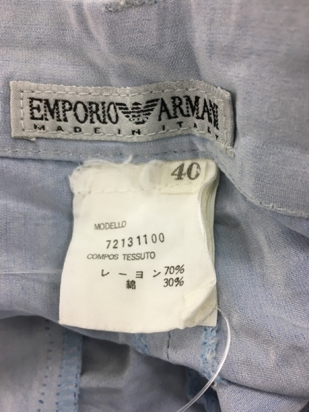 エンポリオアルマーニ ショートパンツ サイズ40 M レディース ライトブルー