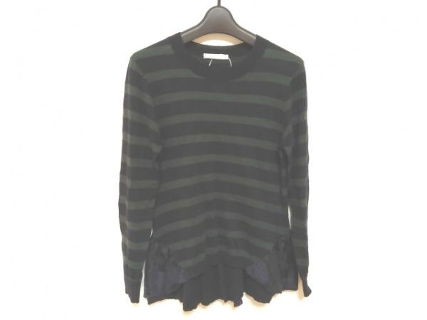 REKISAMI(レキサミ) 長袖セーター サイズ1 S レディース美品  ネイビー×グリーン