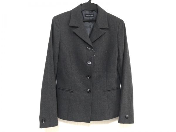 バーニッシュ ジャケット サイズ9 M レディース新品同様  ダークグレー 肩パッド