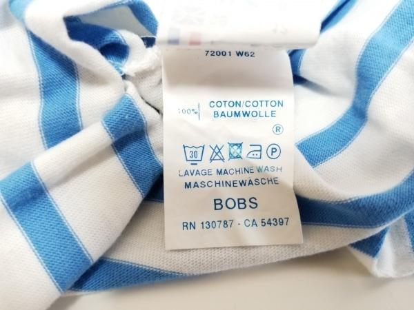 セントジェームス 長袖Tシャツ サイズ8(USA) M レディース 白×ブルー ボーダー