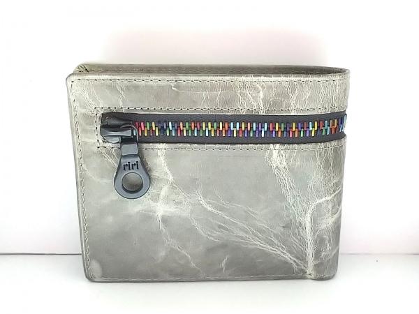 SOLATINA(ソラチナ) 2つ折り財布 グレー×マルチ レザー