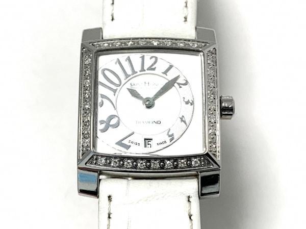 サントノーレ 腕時計 731028.1-F06 レディース シェル文字盤/型押し加工 白×シルバー