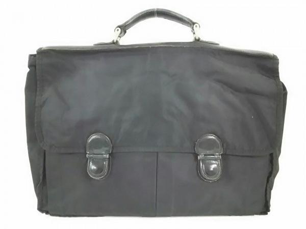 インターナショナルギャラリービームス ビジネスバッグ美品  黒 ナイロン×レザー