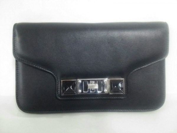 Proenza Schouler(プロエンザスクーラー) 財布美品  黒 レザー