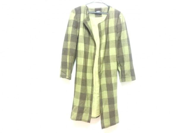 matta(マッタ) コート サイズS レディース ブラウン×グリーン チェック柄/冬物