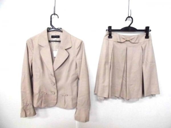 レストローズ スカートスーツ サイズ1 S レディース美品  ベージュ リボン