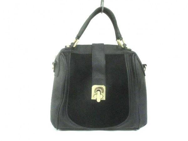 DAZZLIN(ダズリン) ハンドバッグ 黒 合皮×ベロア