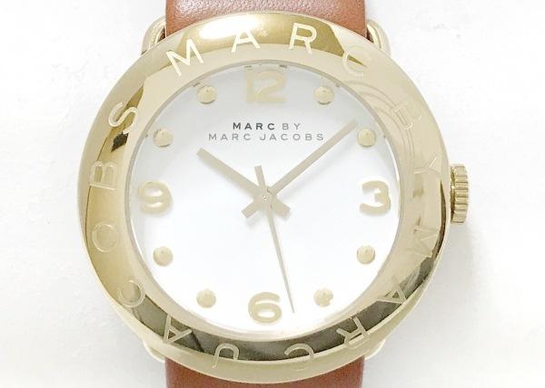 マークジェイコブス 腕時計美品  - MBM8574 レディース 革ベルト 白