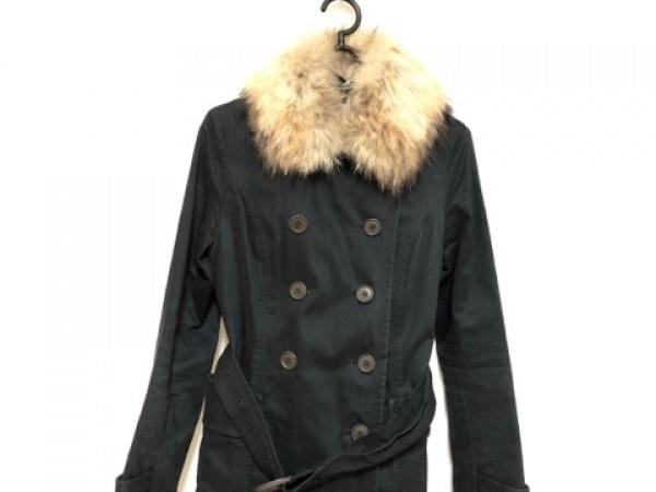 anySiS(エニシス) コート サイズ2 M レディース 黒×ブラウン 冬物