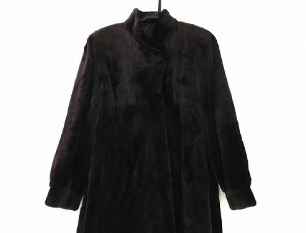 SAGA MINK(サガミンク) コート サイズF レディース美品  ボルドー ミンクファー/冬物