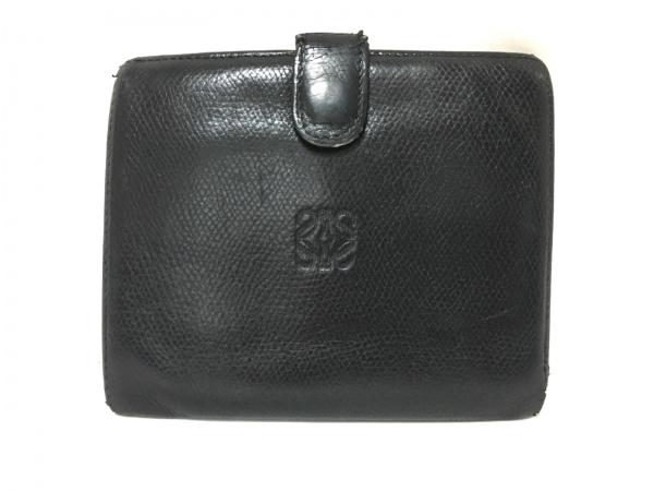 LOEWE(ロエベ) 2つ折り財布 - 黒 レザー