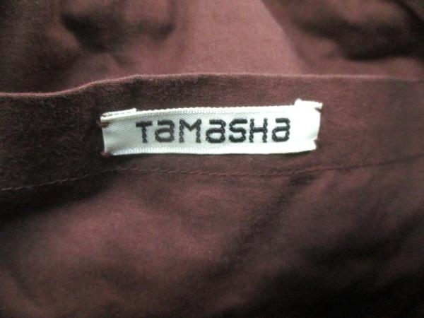 TAMASHA(タマシャ) ハンドバッグ ブラウン×イエロー×マルチ コットン