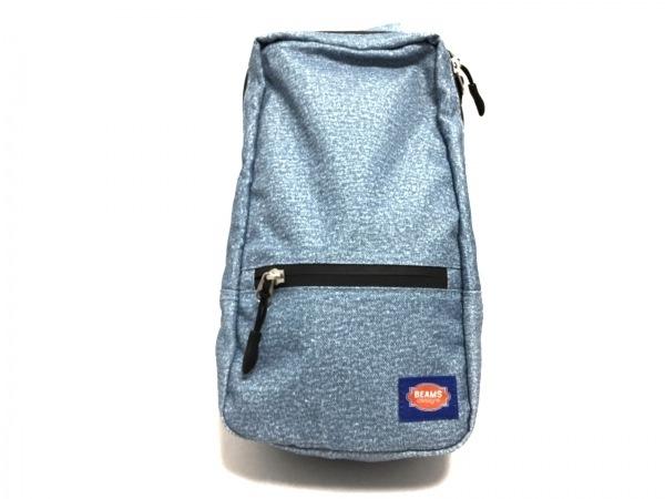 ビームス ワンショルダーバッグ美品  ライトブルー×黒 design/GEORGIA ナイロン