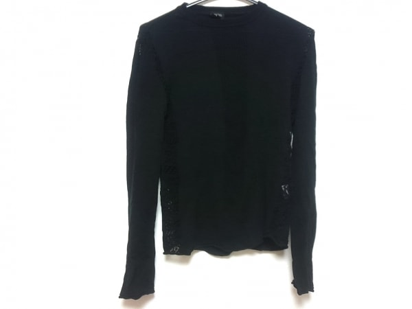 ゴルチエオム 長袖セーター サイズ48 XL メンズ 黒 一部シースルー
