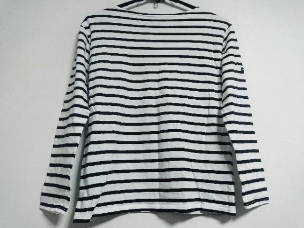 セントジェームス 長袖Tシャツ サイズ36(USA) レディース美品  白×黒 ボーダー