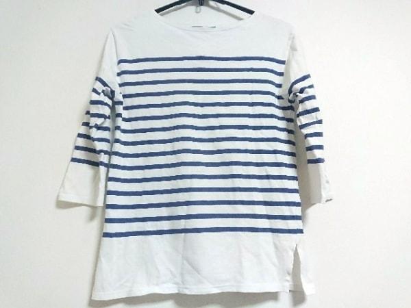 セントジェームス 長袖Tシャツ サイズ36(USA) レディース 白×ネイビー ボーダー