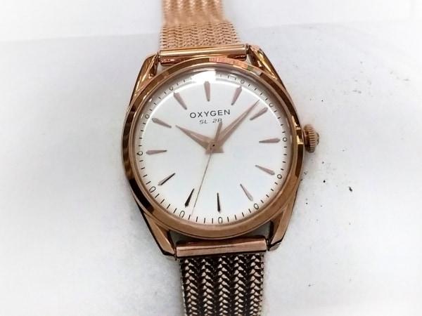 OXYGEN(オキシゲン) 腕時計美品  - レディース アイボリー