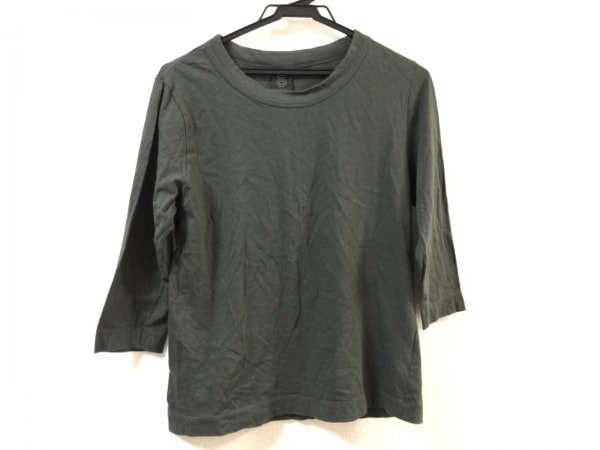 homspun(ホームスパン) 七分袖カットソー サイズM レディース美品  ダークグリーン