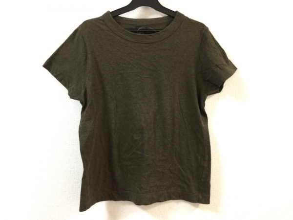 homspun(ホームスパン) 半袖Tシャツ サイズM レディース美品  ダークブラウン