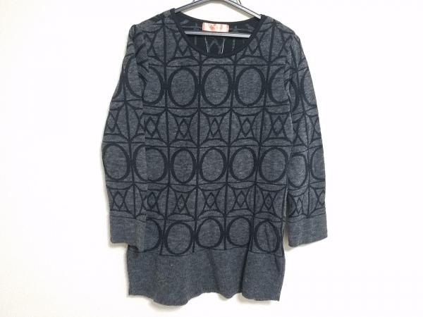 YUMAKOSHINO(ユマコシノ) 長袖セーター サイズ38 M レディース ダークグレー×黒