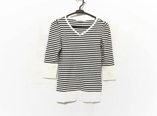 ボーダーズアットバルコニー 七分袖Tシャツ サイズ38 M レディース美品  黒×白