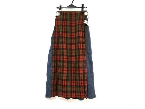 O'NEIL(オニール) 巻きスカート サイズ8(USA) M レディース美品  チェック柄