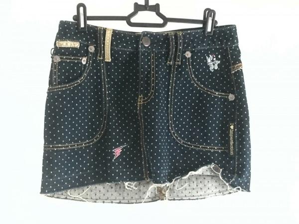 クリスタルボール ミニスカート サイズ1 S レディース美品  ドット柄/刺繍
