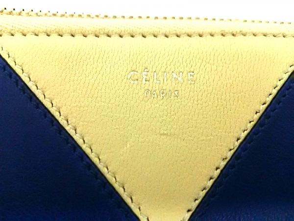 CELINE(セリーヌ) クラッチバッグ美品  - ネイビー×白 レザー