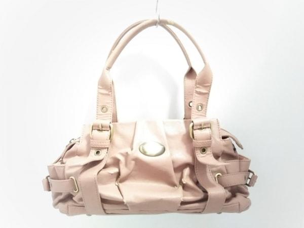サマンサタバサニューヨーク ハンドバッグ美品  ピンクベージュ 合皮