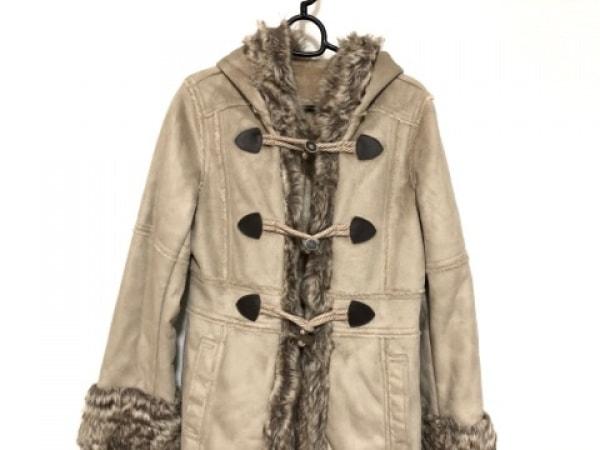 NOLLEY'S(ノーリーズ) コート サイズ40 M レディース ベージュ フェイクファー/冬物