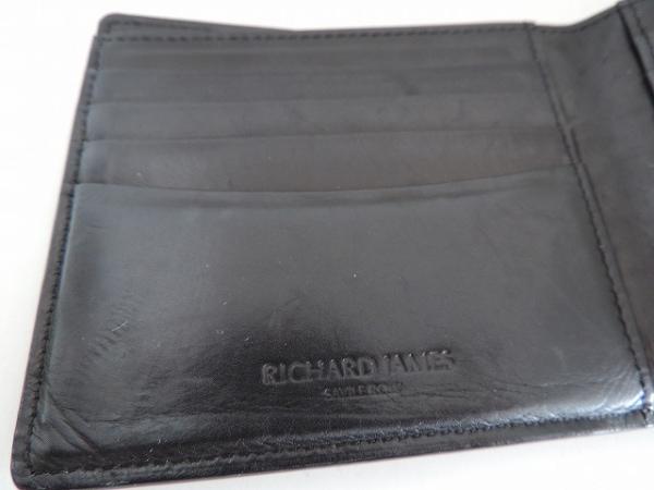 RICHARD JAMES(リチャードジェームス) 札入れ 黒×パープル レザー