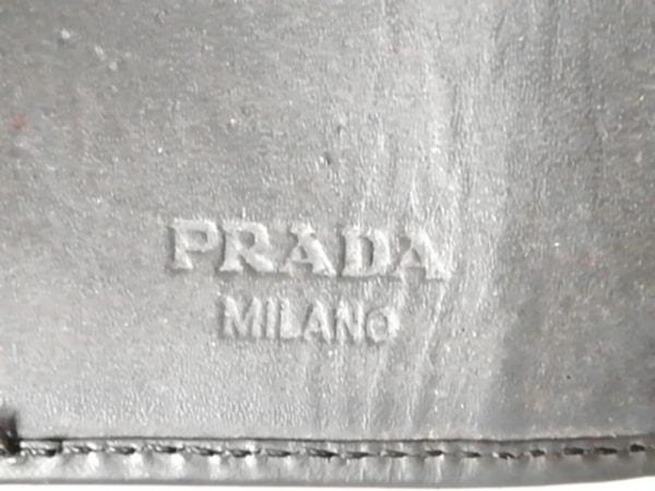 PRADA(プラダ) キーケース - ダークグレー 6連フック レザー